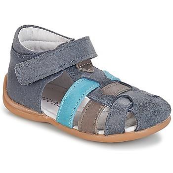 Boty Chlapecké Sandály André LES PRALINES Modrá