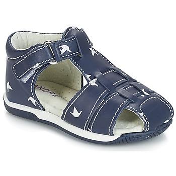 Boty Chlapecké Sandály André ORIGAMI Modrá