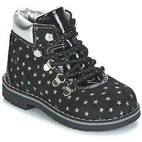 Boty Dívčí Kotníkové boty Citrouille et Compagnie JORDA Černá / Stříbřitá