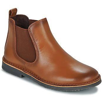 Boty Chlapecké Kotníkové boty Citrouille et Compagnie JOVETTE Velbloudí hnědá
