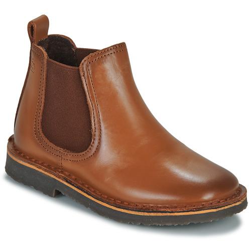 Boty Děti Kotníkové boty Citrouille et Compagnie JOVETTE Velbloudí hnědá