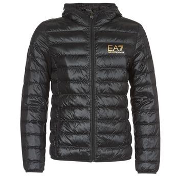 Textil Muži Prošívané bundy Emporio Armani EA7 TRAIN CORE ID M DOWN LIGHT Černá / Zlatá