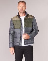 Textil Muži Prošívané bundy Emporio Armani EA7 MOUNTAIN M MEDIUM TRITONAL JACKET Černá / Khaki