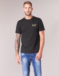 Textil Muži Trička s krátkým rukávem Emporio Armani EA7 JAZKY Černá / Zlatá