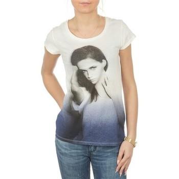 Textil Ženy Trička s krátkým rukávem Lee T-shirt  Photo Tee Cloud Dancer L40IAUHA white, blue, grey