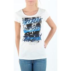 Textil Ženy Trička s krátkým rukávem Lee T-shirt Damski SLIM T CLOUD DANCER L41MEVHA white
