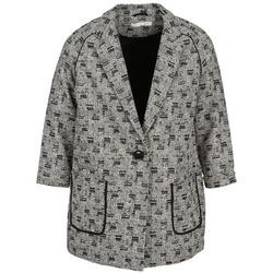 Textil Ženy Kabáty See U Soon CARA Černá / Bílá