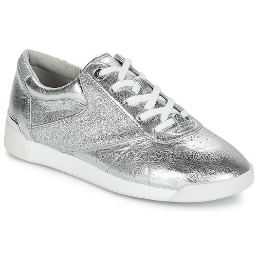 Boty Ženy Nízké tenisky MICHAEL Michael Kors ADDIE LACE UP Stříbrná