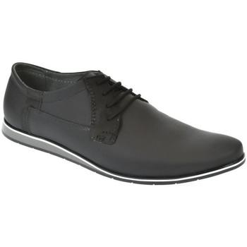 Boty Muži Vycházková obuv Krezus Pánske kožené čierne topánky IVEN čierna