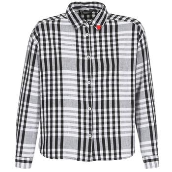 Textil Ženy Košile / Halenky Maison Scotch FRINDA Černá / Bílá