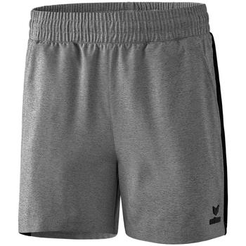 Textil Ženy Kraťasy / Bermudy Erima Short femme  Premium One 2.0 gris chiné/noir