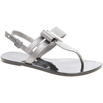 Zaxy Sandály dámské plážové sandály 17201 90288 glitter black - Černá