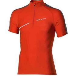 Textil Ženy Trička s krátkým rukávem Asics 1/2 ZIP TOP FW12 421016-0540 orange