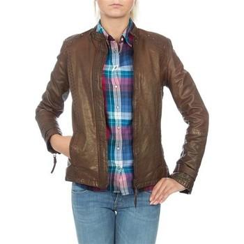 Textil Ženy Saka / Blejzry Wrangler skórzana  WR4030ZC81 brown