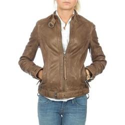 Textil Ženy Saka / Blejzry Wrangler skórzana  Montana WR4044ZCBR brown
