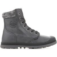 Boty Ženy Kotníkové boty Palladium Manufacture Pampa Hi Knit  LP 95172-036-M grey