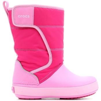 Boty Děti Zimní boty Crocs LODGEPOINT SNOW K 204660-6LR pink