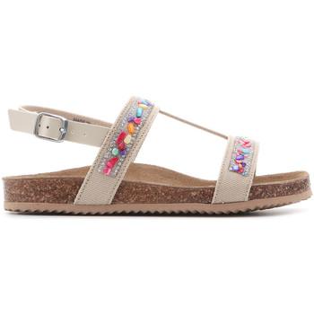 Boty Dívčí Sandály Geox Aloha J821CB 01002 C5000 brown
