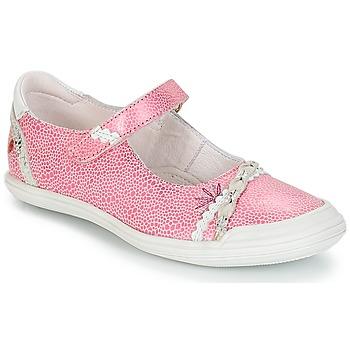 Boty Dívčí Nízké tenisky GBB MARION Růžová - bílá