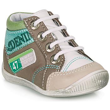 Boty Chlapecké Kotníkové boty GBB PANCRACE Bílá / Zelená / Šedobéžová