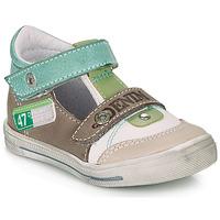 Boty Chlapecké Sandály GBB PEPINO Bílá / Zelená / Šedobéžová