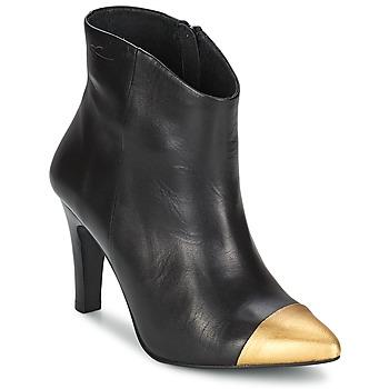Boty Ženy Polokozačky Pastelle ARIEL Černá-zlatá