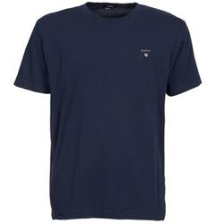 Textil Muži Trička s krátkým rukávem Gant SOLID Tmavě modrá