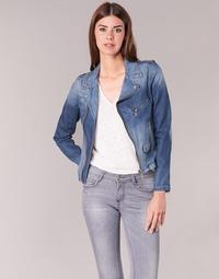 Textil Ženy Riflové bundy Schott JANIS Modrá