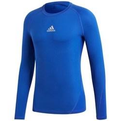 Textil Muži Trička s dlouhými rukávy adidas Originals Alphaskin LS Modrá