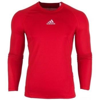Textil Muži Trička s dlouhými rukávy adidas Originals Alphaskin LS Červená