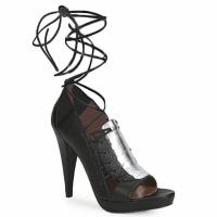 Boty Ženy Sandály Sigerson Morrison STRUZZO Černá / Stříbřitá