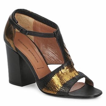 Boty Ženy Sandály Sigerson Morrison STRUZZO Černá / Bronzová