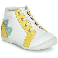 Boty Dívčí Kotníkové tenisky GBB FRANCKIE Bílá / Žlutá