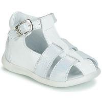 Boty Dívčí Sandály GBB GASTA Bílá / Stříbrná