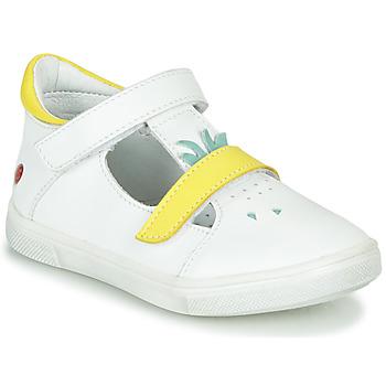 Boty Dívčí Baleríny  GBB ARAMA Bílá-žlutá