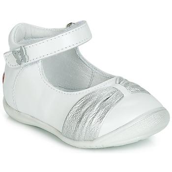 Boty Dívčí Baleríny  GBB MALLA Bílá / Stříbrná
