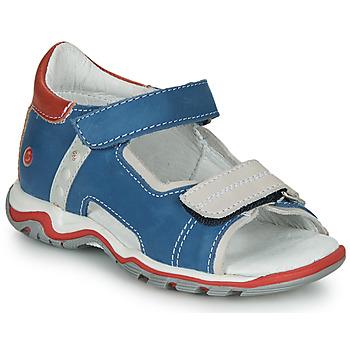 Boty Děti Sandály GBB PARMO Modrá / Červená