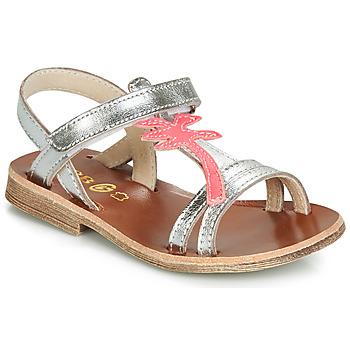 Boty Dívčí Sandály GBB SAPELA Stříbrná        / Růžová