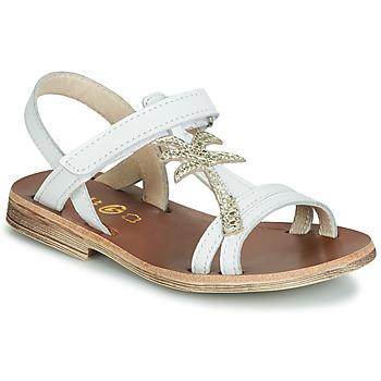 Boty Dívčí Sandály GBB SAPELA Bílá / Zlatá