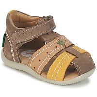 Boty Chlapecké Sandály Kickers BIGBAZAR Hnědá / Béžová / Žlutá