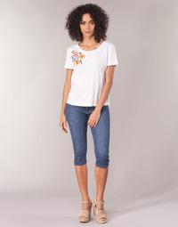 Textil Ženy Tříčtvrteční kalhoty Yurban JATARA Modrá