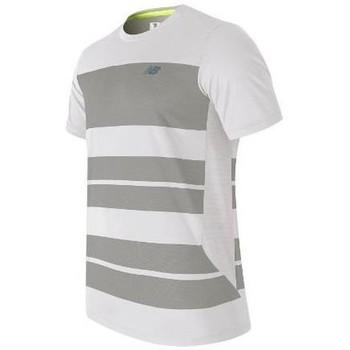 Textil Muži Trička s krátkým rukávem New Balance MT53406WSV white