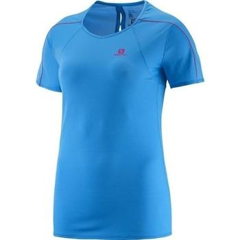 Textil Ženy Trička s krátkým rukávem Salomon Minim Evac Tee W 371146 blue