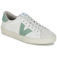 Boty Muži Nízké tenisky Victoria BERLIN PIEL CONTRASTE Bílá / Zelená