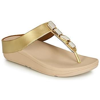 Boty Ženy Sandály FitFlop FINO SHELLSTONE Zlatá