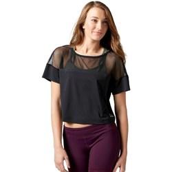 Textil Ženy Trička s krátkým rukávem Reebok Sport Cardio Fashion Top Černé