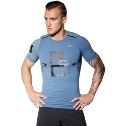 Textil Muži Trička s krátkým rukávem Reebok Sport Combat Rash Guard Modré