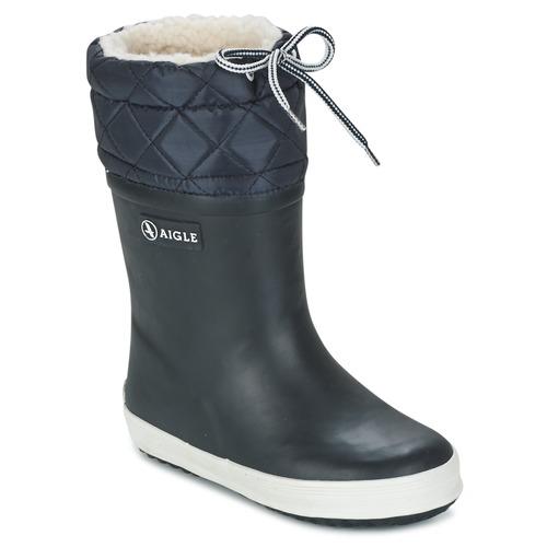 Boty Děti Zimní boty Aigle GIBOULEE Tmavě modrá / Bílá