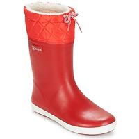 Boty Děti Zimní boty Aigle GIBOULEE Červená / Bílá
