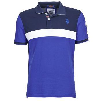 Textil Muži Polo s krátkými rukávy U.S Polo Assn. REMY Tmavě modrá / Bílá